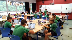 GESS pupils with laptops